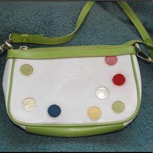 Coach mini multi color bag
